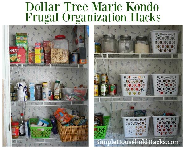 Dollar Tree Marie Kondo Organization Hacks for the Pantry.