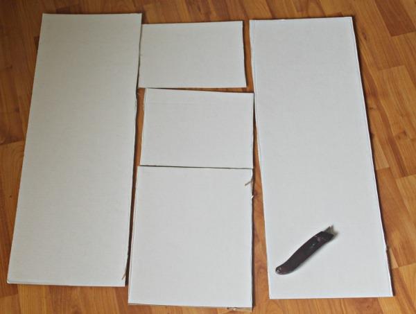 cardboard shirt folding board