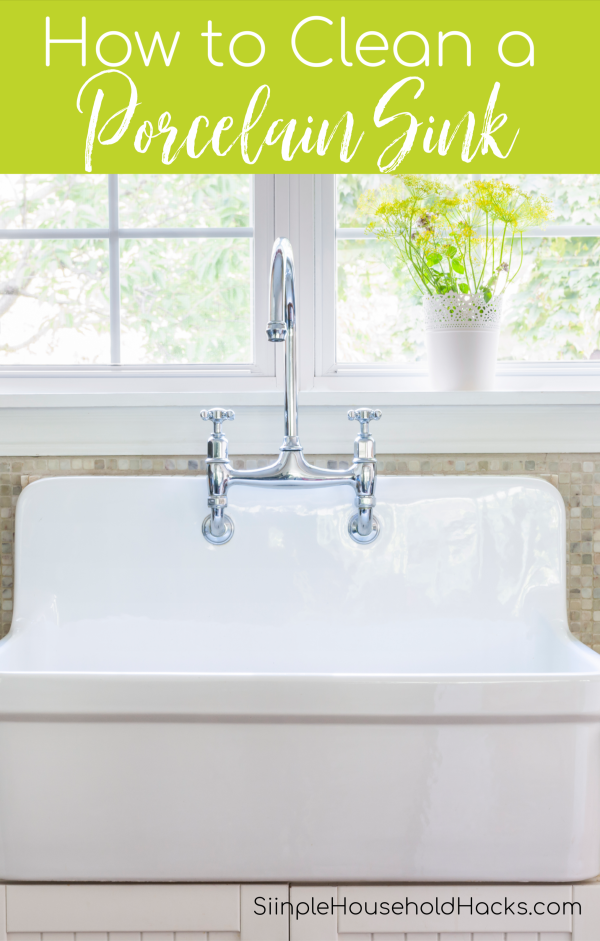 clean white porcelain sink