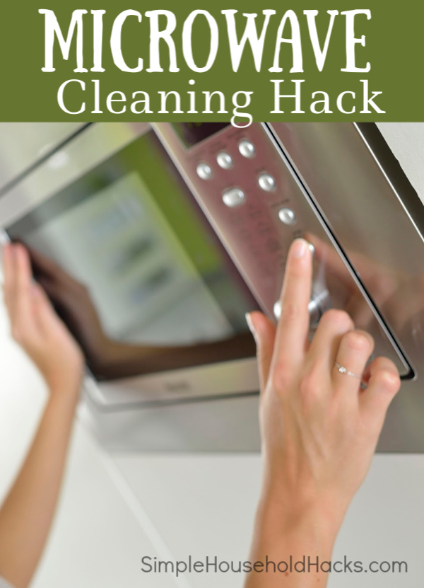 Stubborn stuck on food in the microwave stressing you out? Use this Microwave Cleaning Hack to quickly and easily deep clean your microwave.
