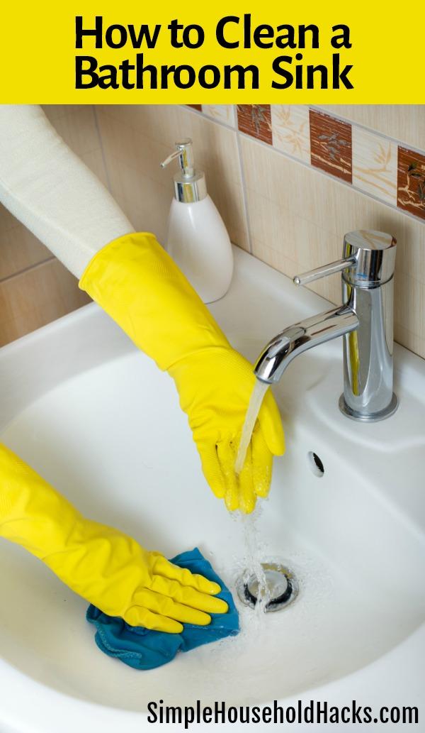 Bathroom Sink Cleaning Hacks
