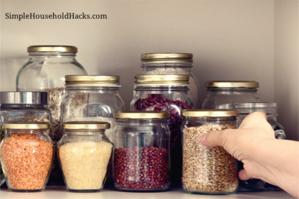 Depression era money saving tips_ Reduce, Reuse, and Recyle as much as you possible can like these old glass jars which are used to store beans and grains.
