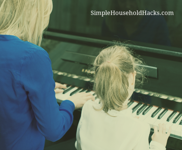 Use your skills such as playing the piano to teach and make money from home.