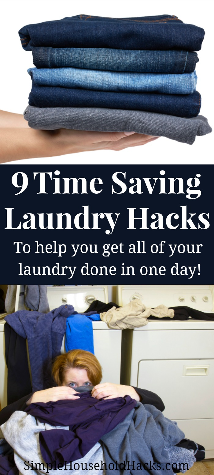 9 time saving laundry hacks to help you get all of your laundry done in one day.