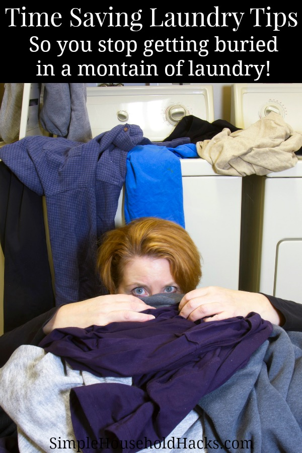 Stop getting buried in a mountain of laundry with these time saving laundry tips.