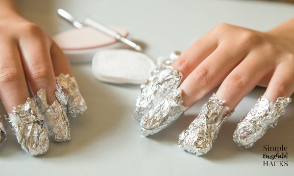 using the foil method to remove acrylic nails at home