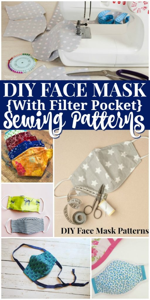 diy face mask patterns with filter pockets